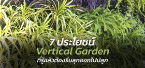 7 ประโยชน์ Vertical Garden ที่รู้แล้วต้องรีบออกไปหามาปลูก